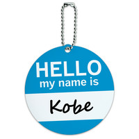 Kobe Hello My Name Is Round ID Card Luggage Tag