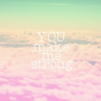 YOU MAKE ME STRONG Stretched Canvas by SUNLIGHT STUDIOS Monika Strigel | Society6