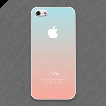 iPhone 5 Case - Pastel gradation//  light cyan & peach - also available in iPhone4s