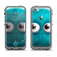 The Teal Fuzzy Wuzzy Apple iPhone 5c LifeProof Fre Case Skin Set