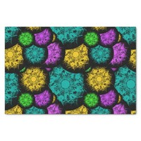 Abstract Neon Bubbles Tissue Paper