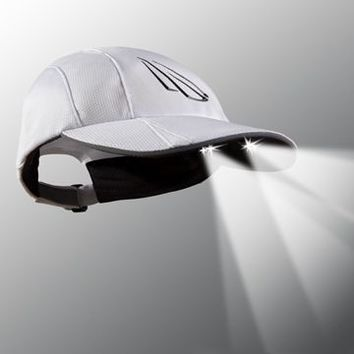 Safety, Running Hat, Men's, Reflective, Lighted hat, lighted cap, POWERCAP, LED Lighted Hat, LED Lighted cap, Light Cap, Light Hat, lighted running hat, lighted running cap