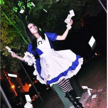 PEAPGC3 Alice Madness Returns cosplay costume halloween costumes hysteria dress for women and girls Custom made any size