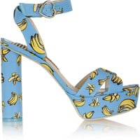 Sophia Webster - Amanda printed faille sandals