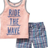 "Old Navy ""Ride The Wave"" Ringer Tanks For Baby"