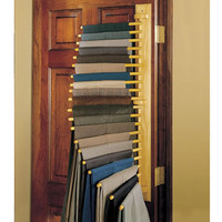 The Closet Organizing 20 Trouser Rack - Hammacher Schlemmer