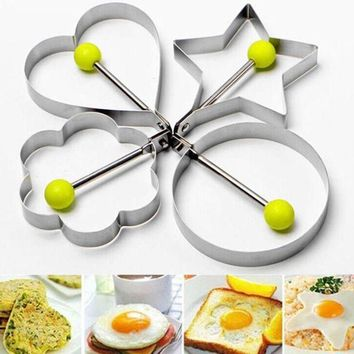ICIKU7Q Stainless Steel Fried Egg Shaper Pancake Mould Mold Kitchen Cooking Tools #RJ16