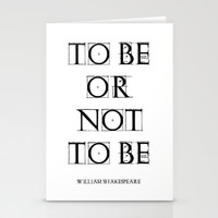 """To Be Or Not To Be"" William Shakespeare Stationery Cards by White Print Design"