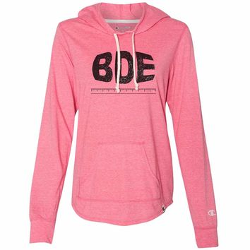 Bde Design Rule - Womens Champion Brand Hoodie - Hooded Sweatshirt