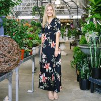 Wayland Floral Maxi - Black | Called To Surf