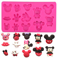 Various Baby Mickey and Minnie Mouse Silicone Mold