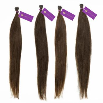 4 x Straight Fusion I-Tip Hair Extension Bundle Deal