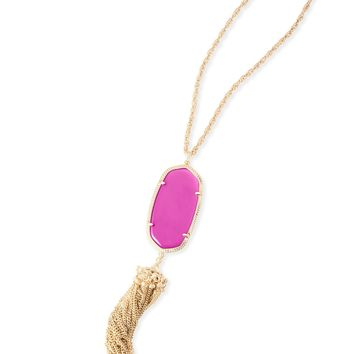 Kendra Scott Rayne Magenta Gold Necklace with Tassel