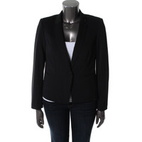 Bar III Womens Collared Long Sleeves One-Button Blazer