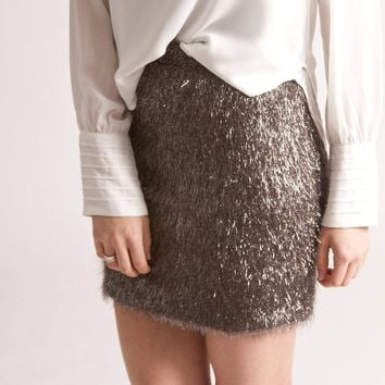French Connection Tinsel Treat Skirt