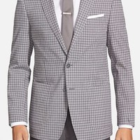 Men's Andrew Marc Classic Fit Check Cotton Blend Sport Coat
