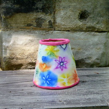 Candle Lampshade - Tie Dye