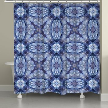 Mystery Blue Shower Curtain