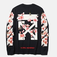 Trendsetter Off-White Women Man Fashion Sport Casual Top Sweater Pullover