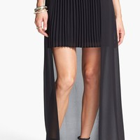 Blu Pepper Chiffon Overlay Pleated Skirt (Juniors) (Online Only) | Nordstrom