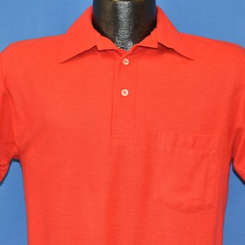 90s Blank Red Golf Polo Shirt Small