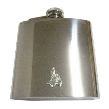 Philippines Map Shape Pendant 6 Oz. Stainless Steel Flask