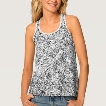 Willow tree leaves. Abstract art of Nature Tank Top