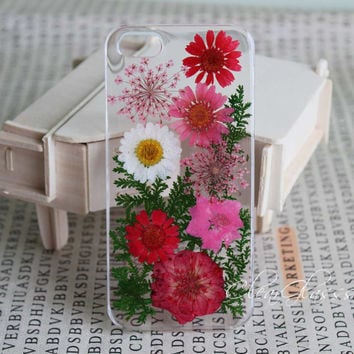 Handmade Real Natural Pressed Flower iphone 6 case iPhone 6 plus case iphone 4s 5 5s 5c case samsung galaxy s4 s3 s5 case iphone 5s cases