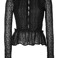 Valentino R.E.D. - Mohair Blend Knit Cardigan in Black