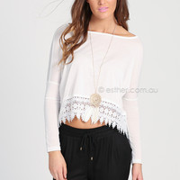 DAISY TOP - WHITE