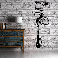 Hand with Microphone Music Band Concert Art Decor Wall Mural Vinyl Sticker M450