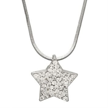 Large Gemmed Star Necklace