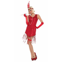 1920's Red Flapper Costume
