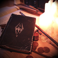 Skyrim Replica 'The Book of the Dragonborn' Scrap/Note/Sketchbooks