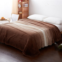 Warm blanket velveteen Flannel White blue Colorful  warm winter blanket on the bed sofa plane for home travel