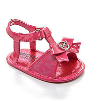 MICHAEL Michael Kors Girls' Joy Kya Crib Sandals - Fuchsia