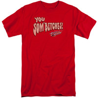 SMOKEY AND THE BANDIT/SOMBITCH-S/S ADULT TALL-RED