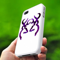 TB015 - Browning Purple - Deer Hunting Girly - photo design on iphone 4 case, iphone 4s case and iphone 5 case - Black / White cases