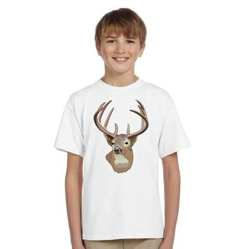 new kids Casual deer printed T-Shirt size 345t