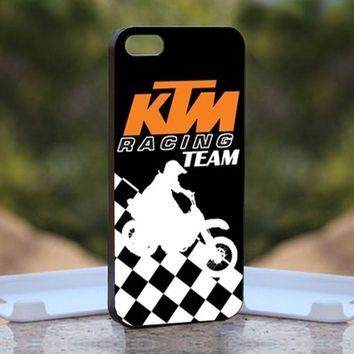 KTM Racing Team, Print on Hard Cover iPhone 5 Black Case
