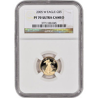 2005-W American Gold Eagle Proof (1/10 oz) $5 - NGC PF70 UCAM