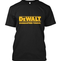 2017 Fashion New Dewalt Power Tools Logo Short Sleeve Men's Black T-Shirt Size Casual Short Sleeve Shirt Tee