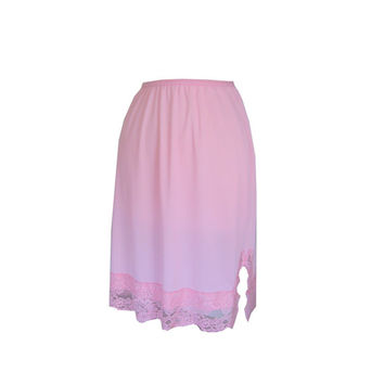 Pink Lace Half Slip Skirt Extender Size Small