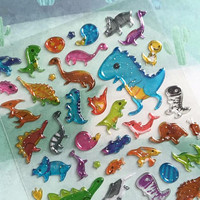 dinosaur stickers cute dragon flying dinosaur cartoon giant dinosaur godzilla epoxy sticker boy sticker dinosaur collection little boy gift