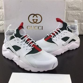 Tagre™ Nike Gucci Drops the Air Huarache Ultra Sports shoes Black&green
