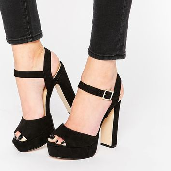 ALDO Variana Black Platform Sandals at asos.com