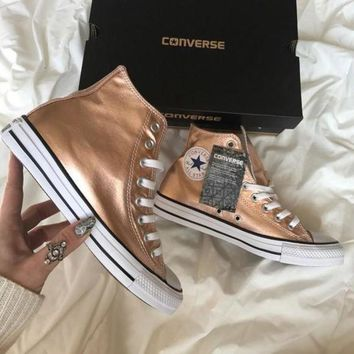 Converse' Fashion Sneakers Sport Shoes - Rose gold