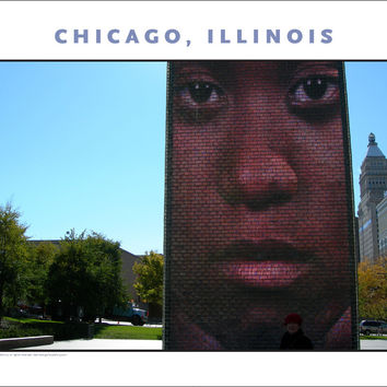 Powerful Image, Poignant Times, Chicago Cityscape New Photo Wall Art #978