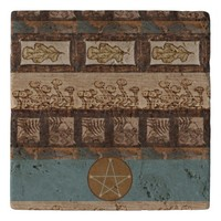Forest Treasures Altar Tile Witch Wiccan Pagan Trivet