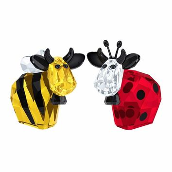 Swarovski Color Crystal Set of 2 Figurines BUMBLEBEE & LADYBIRD MO Limited 2016 #5136457